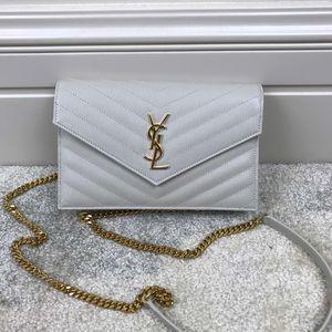 Yves Saint Laurent 伊夫·圣罗兰女士信封斜挎单肩包