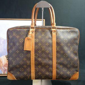Louis Vuitton路易.威登GW12602老花配皮公文包手提包