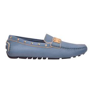 Louis Vuitton 路易·威登女士蓝色系铆钉软底舒适豆豆休闲鞋