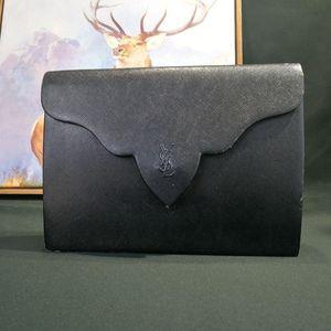 Yves Saint Laurent 伊夫·圣罗兰SN12596压纹小牛皮信封包手拿包