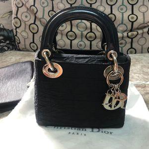Dior 迪奥三格迷你戴妃手提包