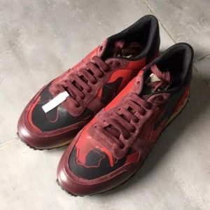 Valentino 华伦天奴红色迷彩休闲鞋