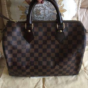Louis Vuitton 路易·威登经典棕棋盘枕头SP30手提包