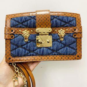 Louis Vuitton 路易·威登牛仔拼焦糖色老花皮单肩包