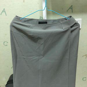 PRADA 普拉达大象灰半身裙
