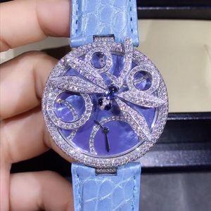 Cartier 卡地亚创意珠宝腕表白金原钻满天星女表