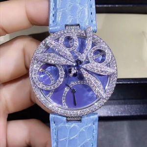 Cartier 卡地亚创意珠宝白金材质原镶钻石满天星腕表