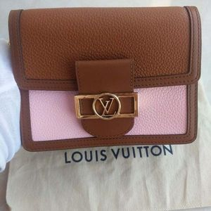 Louis Vuitton 路易·威登达芙妮mini拼粉色皮单肩包