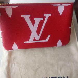 Louis Vuitton 路易·威登限量红色大logo双面链条包