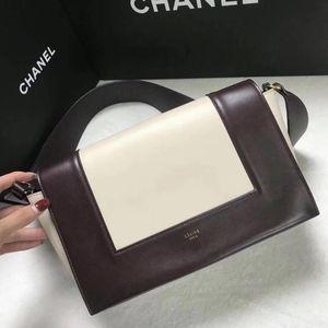 Celine 赛琳Frame Bag宽肩带拼色小方包翻盖包单肩包