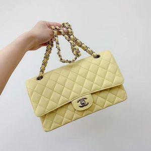 CHANEL 香奈儿中号柠檬黄荔枝皮单肩包