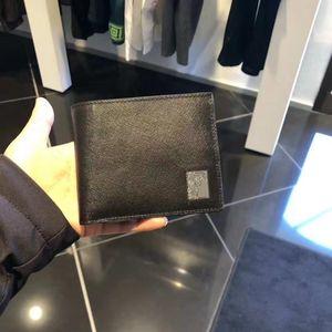 Versace 范思哲男款黑色十字纹钱包