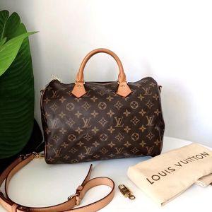 Louis Vuitton 路易·威登经典老花speedy30肩带款枕头包手提包