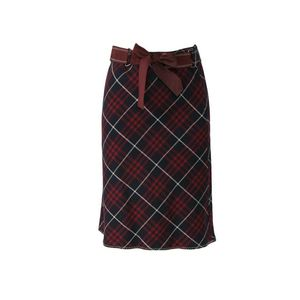 Burberry 博柏利羊毛格纹学院风半身裙YF12005