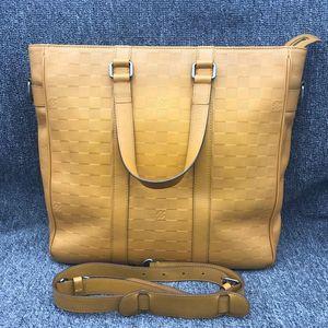 Louis Vuitton 路易·威登黄色棋盘手提公文包