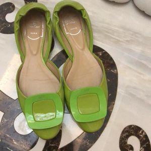Roger Vivier 罗杰·维维亚绿色平底鞋