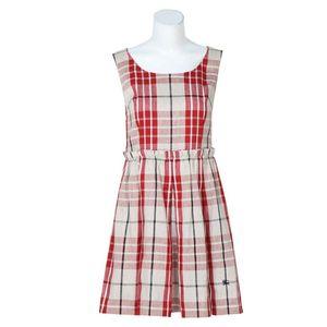 Burberry 博柏利棉质格纹无袖学院风连衣裙YF12008