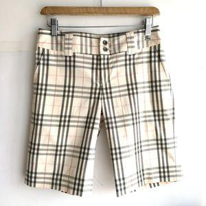 Burberry 博柏利浅粉米格纹五分短裤