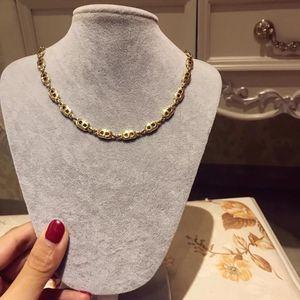 Dior 迪奥金色项链
