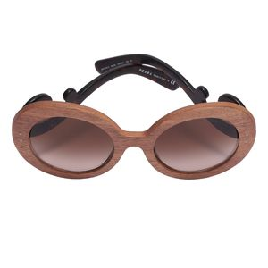 PRADA 普拉达限量款木质镜框祥云系列墨镜太阳眼镜
