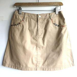Burberry 博柏利YF04016卡其帆布格纹袋口半裙