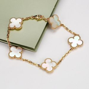 Van Cleef Arpels 梵克雅宝VintageAlhambra18k黄金镶嵌珍珠母贝手链