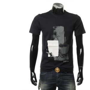 Z Zegna 杰尼亚男士修身圆领短袖T恤