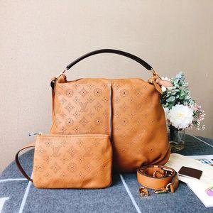 Louis Vuitton 路易·威登金棕色全皮手提单肩包