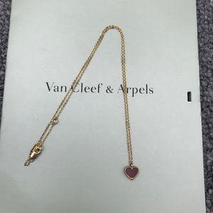 Van Cleef Arpels 梵克雅宝红色心形项链