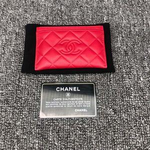 CHANEL 香奈儿红色小卡包