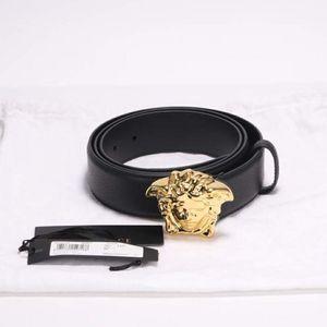Versace 范思哲经典黑金美杜莎皮带腰带