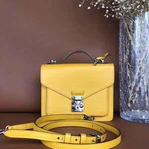 Louis Vuitton 路易·威登柠檬黄水波纹邮差包
