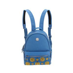 MCM  蓝色子母双肩包