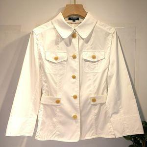 Burberry 博柏利YF04031金扣七分袖上衣外套衬衫