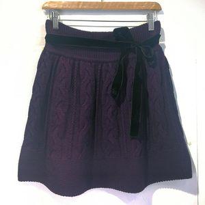 Burberry 博柏利YF04046高贵紫100%高端羊毛编织温暖半裙