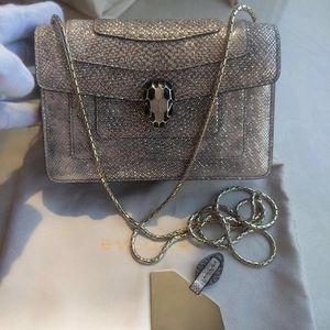 BVLGARI 宝格丽mini限量款水蛇皮蛇头包