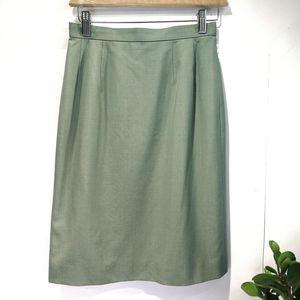 Burberry 博柏利YF04030高档真丝羊毛半身裙铅笔裙