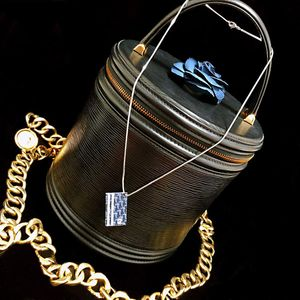 Dior 迪奥数字限量款天空蓝镀金珐琅彩吊坠项链