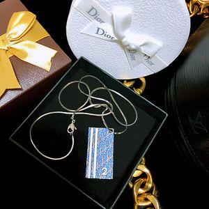 Dior 迪奥大号数字限量款镀金珐琅彩吊坠项链