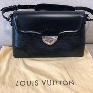 Louis Vuitton 路易·威登黑色水波纹单肩包