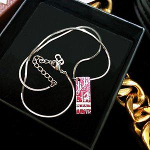 Dior 迪奥数字限量款樱桃红镀金珐琅彩吊坠项链