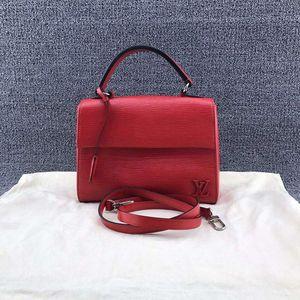Louis Vuitton 路易·威登红色水波纹牛皮女士手提单肩包