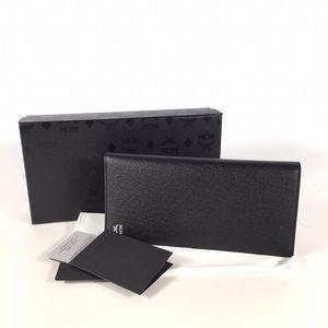 MCM 黑色长款对折钱包