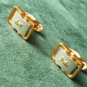 Celine 赛琳XL12081马车闪金扣袖扣