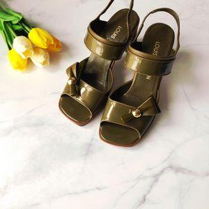 Louis Vuitton 路易·威登方头高跟凉鞋