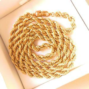 Dior 迪奥XL12633闪金粗金丝双纽项链毛衣链