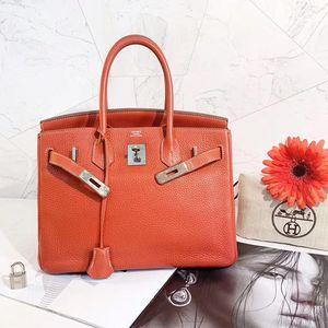 Hermès 爱马仕橙色birkin28手提包
