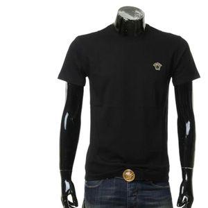 Versace 范思哲男士金线刺绣美杜莎修身短袖T恤