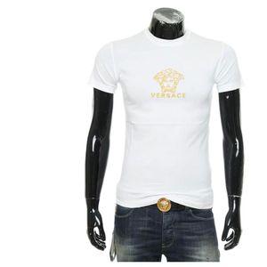 Versace 范思哲男士刺绣美杜莎圆领短袖T恤
