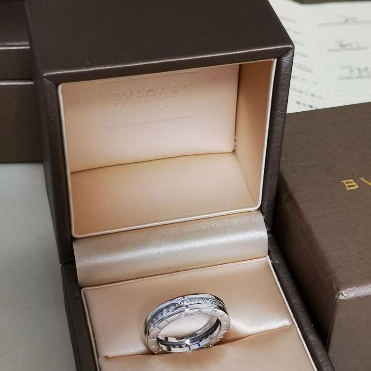 BVLGARI 宝格丽满钻弹簧戒指